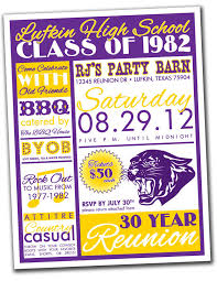 high school class reunion invitations reunion invitation package high school college family you
