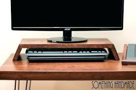 Flat Computer Desk Computer Desk With Monitor Shelf Workstation Ergonomic Dual Setup