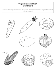 fruit and vegetable cut outs printable sketch coloring page
