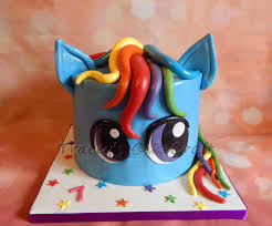 Cake Decorating Supplies Ontario Rainbow Dash My Little Pony Cake With Rainbow Layers Cakes