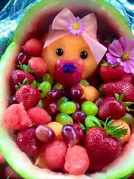 baby shower centerpieces for girl ideas interesting fruit decoration ideas for baby shower 34 about