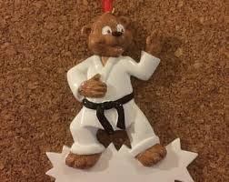 personalized karate kid christmas ornament