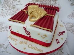 theatre cake 18th birthday cake made for a drama student u2026 flickr