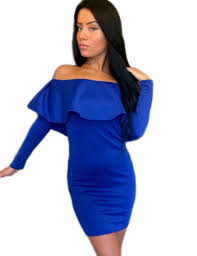 club dresses 2015 ladies ruffle off the shoulder bodycon
