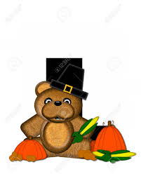 the letter l in the alphabet set teddy thanksgiving is black