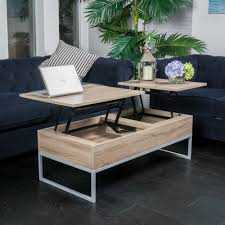 solid wood coffee table with lift top rustic modern natural brown wood lift top storage coffee table