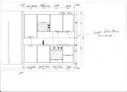 taille plan de travail cuisine hauteur meuble cuisine inspirations avec hauteur plan de travail