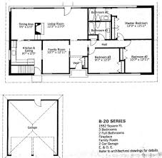 baby nursery split level floor plans 1960s mid century modern