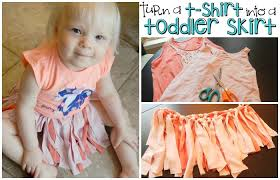 turn an old shirt into a toddler skirt totally the bomb com