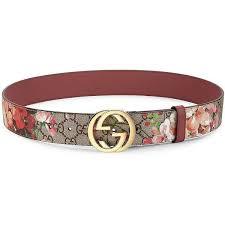 floral belt gucci floral logo print belt 400 liked on polyvore featuring
