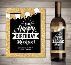 wine birthday gifts birthday wine label birthday gift wine label custom wine