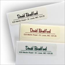 script or italic address labels