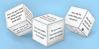 printable question dice reading book question prompts dice net dice prompt reading