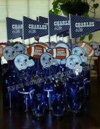 dallas cowboys baby shower centerpiece crafts pinterest