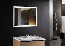 bathroom fixture walnut rectangle box metal bohemian led mirrors