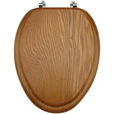 Oblong Toilet Seat Mainstays Medium Oak Elongated Toilet Seat Walmart Com