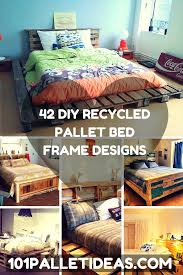 How To Make A King Size Platform Bed With Pallets by 42 Diy Recycled Pallet Bed Frame Designs