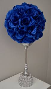 blue centerpieces royal blue wedding centerpieces adastra