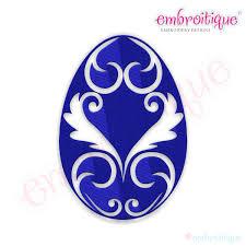 fancy easter eggs embroitique fancy easter egg 21 filled embroidery design