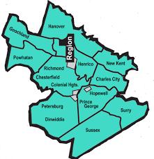 Vcu Map Region 1 Aec Vcu Autism Center For Excellence