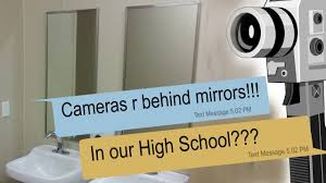 bathroom security cameras creepy texts about cameras secretly placed behind mirrors in the