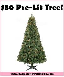 half 6 prelit tree today only for just 30