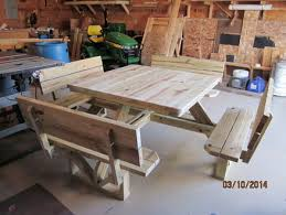 Impressive Octagon Wood Picnic Table Build Your Shed Octagonal by Another Picnic Table Idea Wood Project Ideas Pinterest