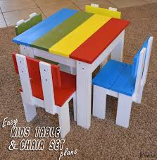 Free Wood Patio Table Plans by Simple Kid U0027s Table And Chair Set Her Tool Belt