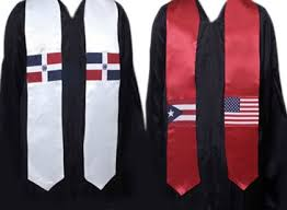 stoles graduation non personalized hispanic flags stoles graduation stoles