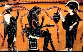 Greek Black Figure Vase Painting Hermes Heracles U0026 Athena Ancient Greek Vase Painting