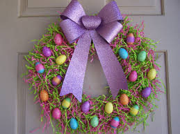 easter floral wreaths to decorate your door instyle fashion one