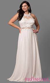 white and ivory plus size party dresses promgirl
