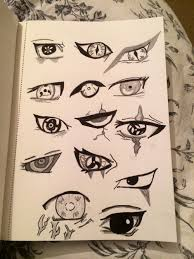 hand drawn eyes from naruto naruto eyes drawn anime