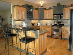 inexpensive kitchen remodel ideas cheap kitchen remodel brown wooden cabinet grey marble countertop