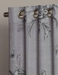 Grey And Silver Curtains Buy Peony Floral Grey Fabric By The Metre Next Made To Measure