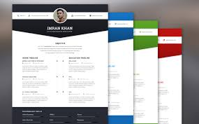 colorful resume template free download focal html5 resume