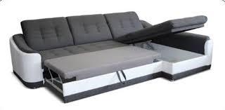 canapé d angle basika canapé d angle convertible à gauche bray pu blanc gris