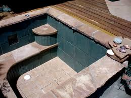 Building A Concrete Block House Concrete Block Pool This Tub Was Built Of Cement Block And Tiled