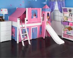 Princess Bunk Bed With Slide Pink Princess Castle Bed With Slide By Maxtrix 370