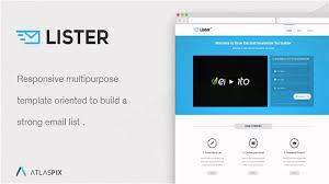 lister premium landing page website templates and themes youtube