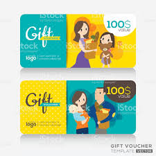 Holiday Gift Card Template Supermarket Coupon Voucher Or Gift Card Design Template Stock