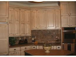 Kitchen Cabinets Refinished Refinished Cabinets Nantucket White With Van Brown Glaze On