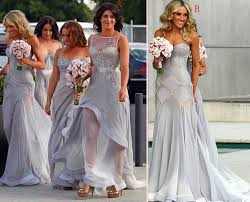 fall bridesmaid dresses grey bridesmaid gown gray prom dresses chiffon prom gown simple