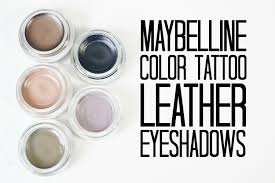 review and swatches maybelline color tattoo leather eyeshadows