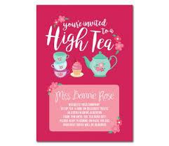 high tea invitations