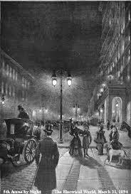 Arc Lights Early Street Light Systems