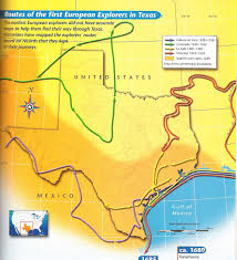 Hernando De Soto Route Map by Texas Explorers Map Of Routes Thinglink