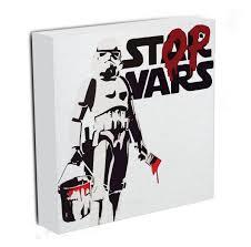 banksy canvas prints canvas art rocks banksy stop wars star wars canvas print or poster