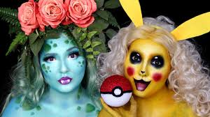 Pokemon Pikachu U0026 Ivysaur Halloween Makeup Tutorial Youtube
