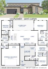 contemporary house plan courtyard23 semi custom home plan 61custom contemporary